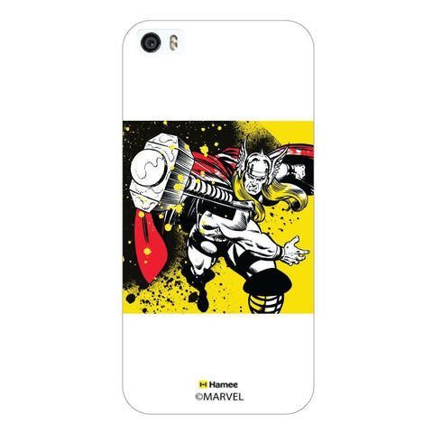 White  Thor Colour Splash Apple iPhone 5S/5 Case Cover