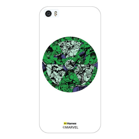 Hulk Logo Doodle White iPhone 5S/5 Case Cover
