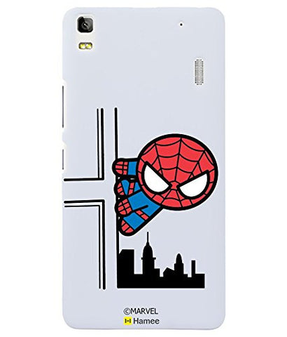 Cute Spiderman Building Lenovo K3 Note Case Cover
