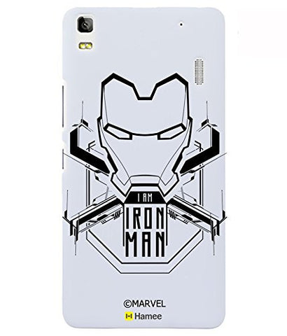 Ironman Black Outline Lenovo K3 Note Case Cover