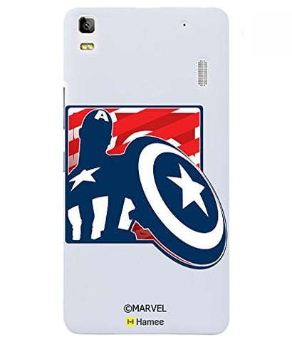 Captain America Shield Silhouette Lenovo K3 Note Case Cover