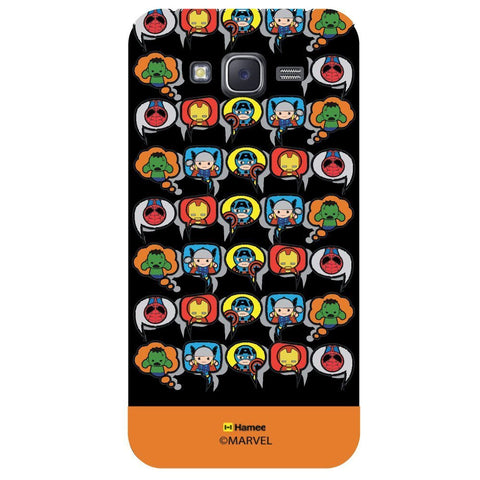 Orange Strip Cute Tessellation Design Black  Samsung Galaxy On7 Case Cover