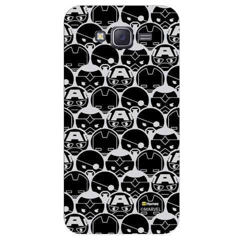 Cute Grey Tesselation Design Black  Samsung Galaxy J7 Case Cover
