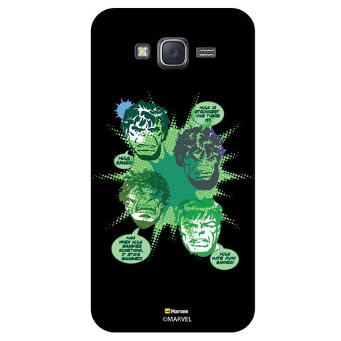 Hulk Green Colour Splash Illustration Black  Samsung Galaxy J7 Case Cover
