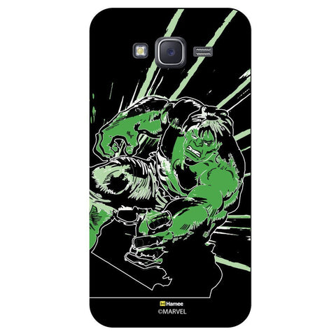 Black Hulk Cover With Green Strokes  Samsung Galaxy On7 Case Cover
