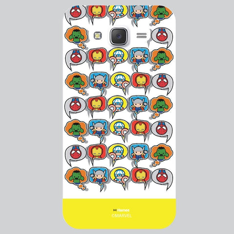 Yellow Strip Cute Tessellation Design White Samsung Galaxy On7 Case Cover