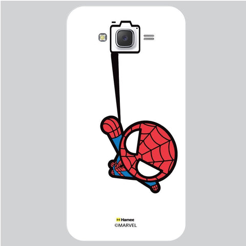 Cute Spider Man Selfie Black White Samsung Galaxy J7 Case Cover