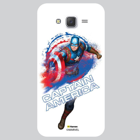 Captain America Water Splash White Samsung Galaxy On7 Case Cover