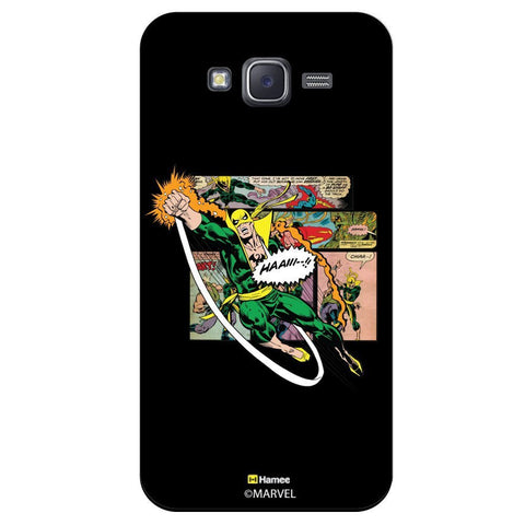 Marvel Comic Illustration Seen Black  Samsung Galaxy On7 Case Cover