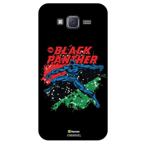 Black Panther Colour Splash Black  Samsung Galaxy J7 Case Cover