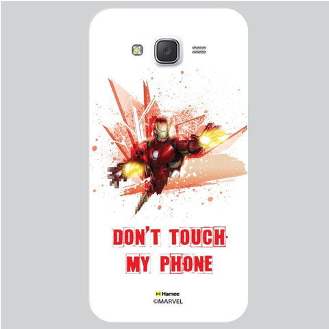 Iron Man Dont Touch My Phone White Samsung Galaxy J7 Case Cover