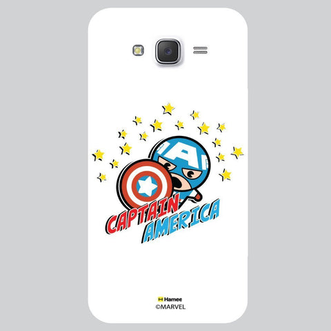 Captain America With Stars White Samsung Galaxy On7 Case Cover