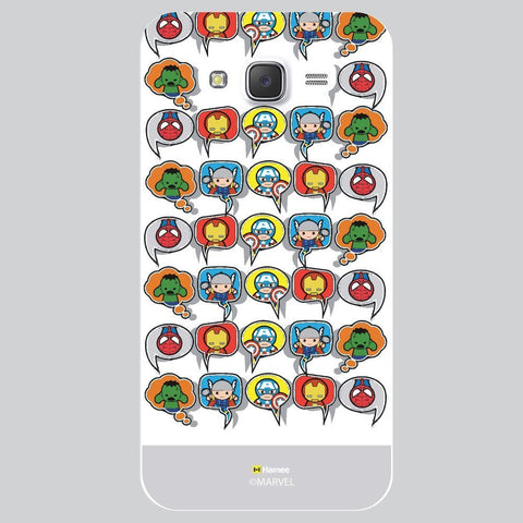 Grey Strip Cute Tessellation Design White Samsung Galaxy On7 Case Cover