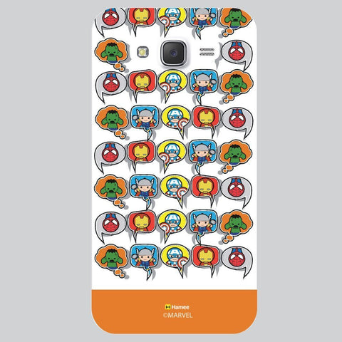 Orange Strip Cute Tessellation Design White Samsung Galaxy On7 Case Cover