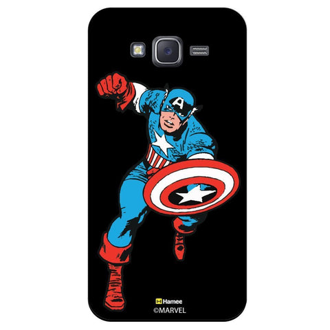 Captain America Style Black  Samsung Galaxy On7 Case Cover