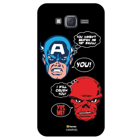 Captain America Conversation Dailog Bubble Illustration On Black  Samsung Galaxy J7 Case Cover