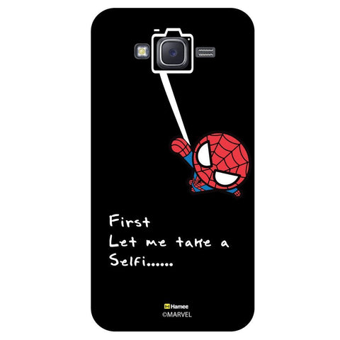 Cute Spider Man Selfie With Quote Black  Samsung Galaxy J7 Case Cover