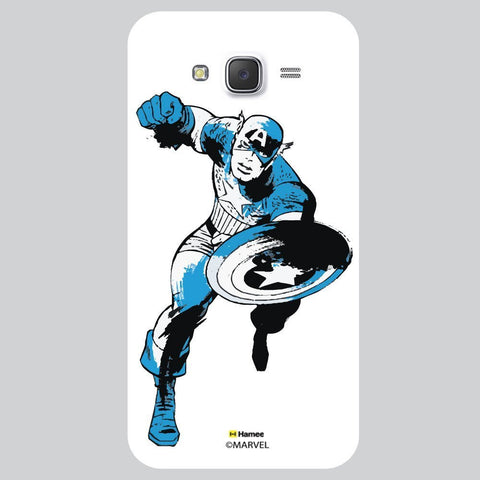 Captain America Black And Blue Colur On White Samsung Galaxy On7 Case Cover
