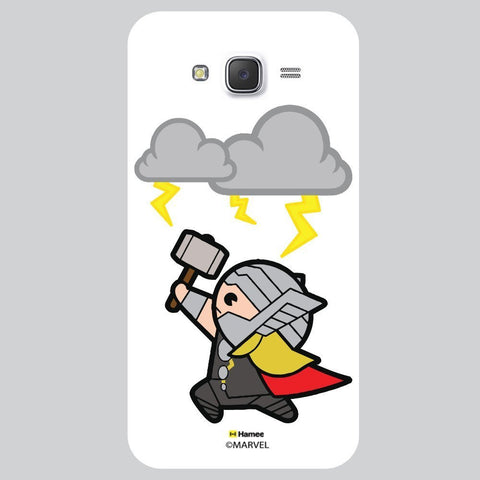 Cute Thor Playing With Thunder Lightning White Samsung Galaxy On7 Case Cover