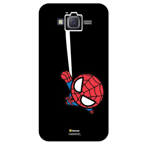 Cute Spider Man Selfie Black  Samsung Galaxy J7 Case Cover