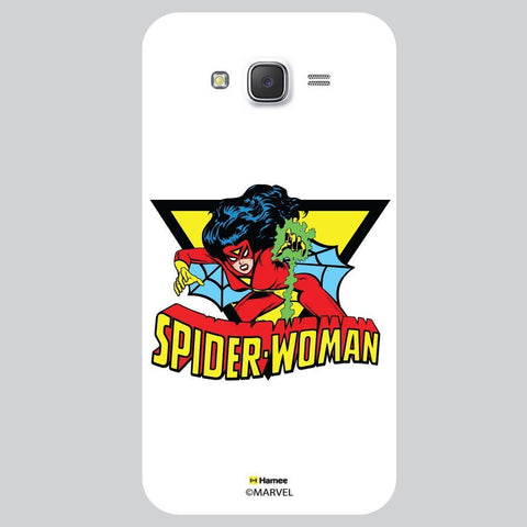 Spider Woman Illustration White Samsung Galaxy On5 Case Cover