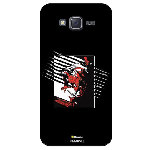 Spider Man Scratch Design Black  Samsung Galaxy J7 Case Cover