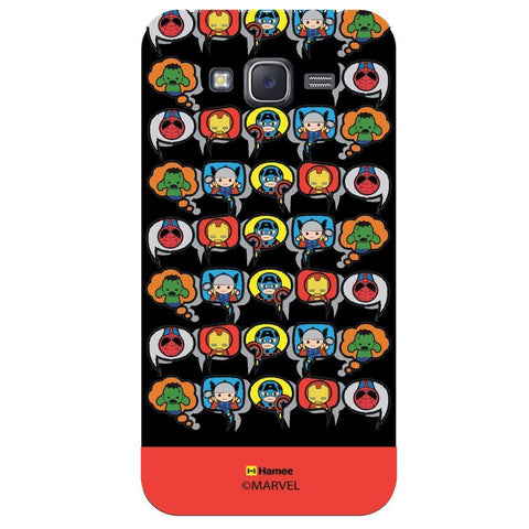 Red Strip Cute Tessellation Design Black  Samsung Galaxy On7 Case Cover
