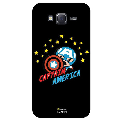Captain America With Stars Black  Samsung Galaxy On7 Case Cover