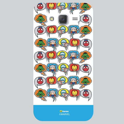 Cyan Strip Cute Tessellation Design White Samsung Galaxy On7 Case Cover