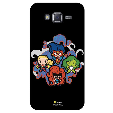 Cute Four Powerful Womens Black  Samsung Galaxy J7 Case Cover