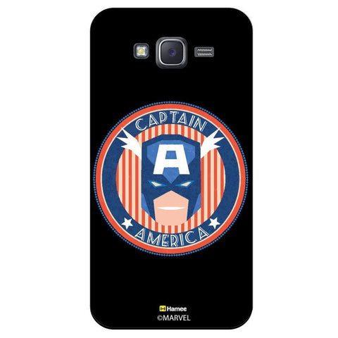 Captain America Circle Design Black  Samsung Galaxy On5 Case Cover