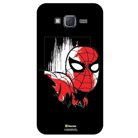 Spider Man Face Design Black  Samsung Galaxy J5 Case Cover
