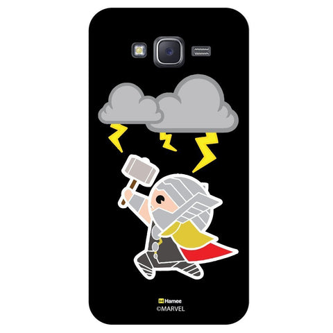 Cute Thor Playing With Thunder Lightning Black  Samsung Galaxy J7 Case Cover
