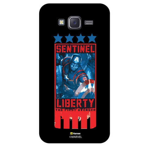 Captain America Five Stars Black  Samsung Galaxy J7 Case Cover
