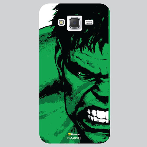 Hulk Full Face Black White Samsung Galaxy J7 Case Cover