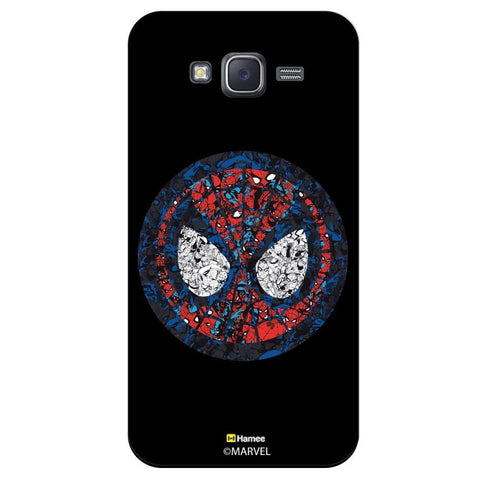 Spider Man Mask Collage Illustration Blackblack  Samsung Galaxy J7 Case Cover