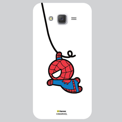 Cute Spiderman Moving White Samsung Galaxy J7 Case Cover