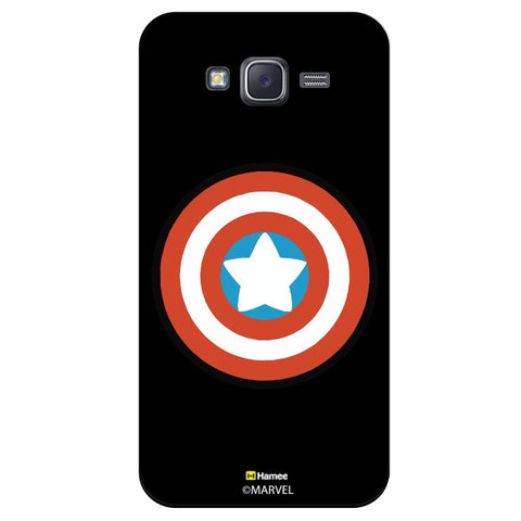 Captain America Shield Flat Design Black  Xiaomi Redmi 2 Case Cover