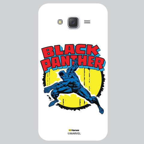 Black Panther Action White Samsung Galaxy J7 Case Cover