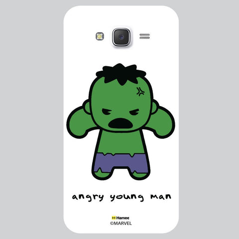 Cute Hulk Angry Young Man White Samsung Galaxy J7 Case Cover