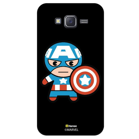 Cute Captain America Look Black  Samsung Galaxy On7 Case Cover