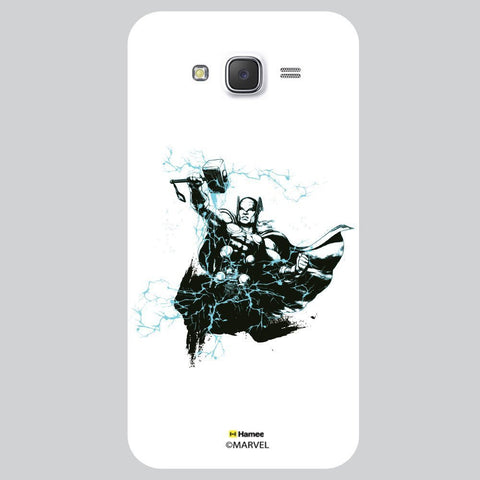 Thor Hammer Lightning White Samsung Galaxy J7 Case Cover