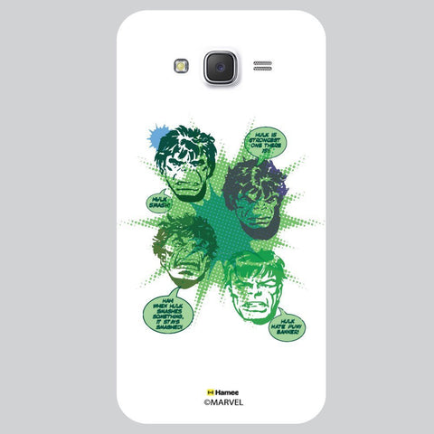 Hulk Green Colour Splash Illustration Black White Samsung Galaxy J7 Case Cover