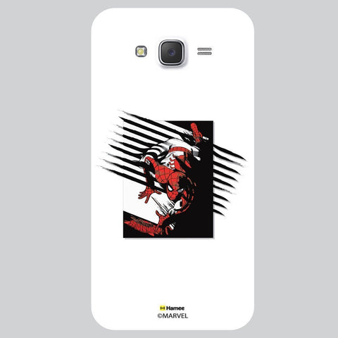 Spider Man Scratch Design White Samsung Galaxy J7 Case Cover