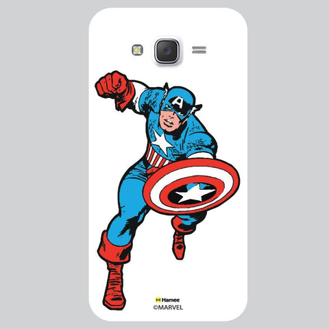 Captain America Style White Samsung Galaxy On7 Case Cover