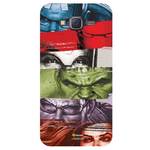 Marvel Heroes Strips Black  Samsung Galaxy On7 Case Cover