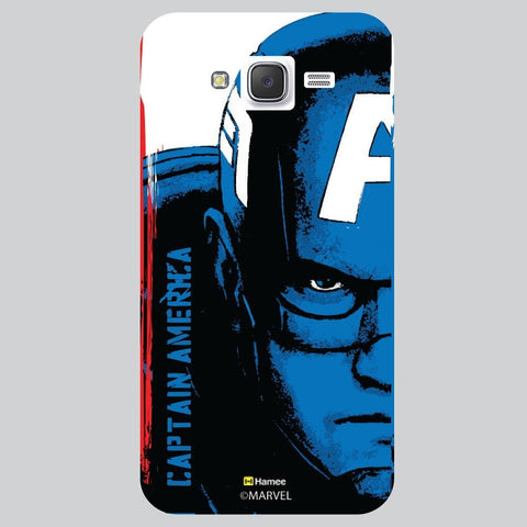Captain America Full Face Black White Samsung Galaxy J7 Case Cover