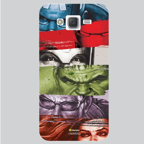 Marvel Heroes Strips White Samsung Galaxy On7 Case Cover