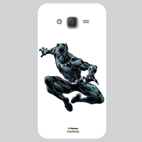 Black Panther Style White Samsung Galaxy J7 Case Cover