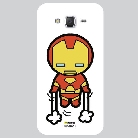 Cute Iron Man Launching White Samsung Galaxy On7 Case Cover